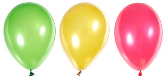 Inflatable Balloons. Photo on the white background Stock Photography