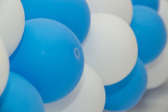 Inflatable balloons celebratory festoon Stock Photo