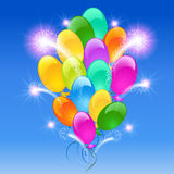 Inflatable balloons firework. Holiday background with inflatable balloons firework Royalty Free Stock Image