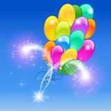 Inflatable balloons firework. Holiday background with inflatable balloons firework Royalty Free Stock Photos