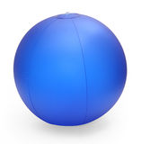 Inflatable beach ball. Isolated on white with clipping path Stock Photos