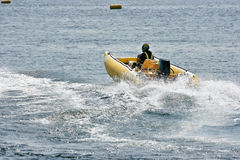 Inflatable boat Stock Image