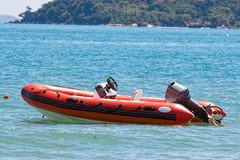 Inflatable boat. The Inflatable boat as beach theme royalty free stock photo
