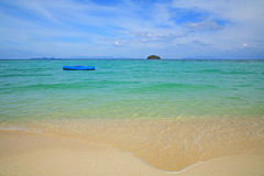 Inflatable boat floating on Andaman sea Royalty Free Stock Image