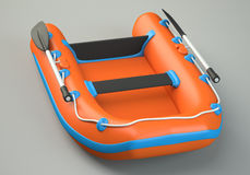 Inflatable boat Stock Images