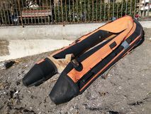 Inflatable boat Royalty Free Stock Photo