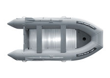Inflatable boat with path Stock Image