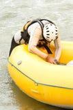 Inflatable Boat Repair Stock Photo