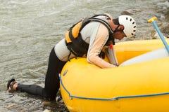 Inflatable Boat Repair Stock Images