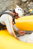 Inflatable Boat Repair Royalty Free Stock Photography