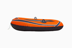 Inflatable boat. For rescue at sea on white background Royalty Free Stock Photos