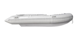 Inflatable boat sideview Royalty Free Stock Images