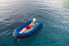 Inflatable boat at Similan island Stock Photo