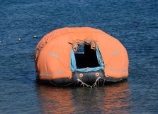 Inflatable boat with tent, Canopy on boat Royalty Free Stock Photography