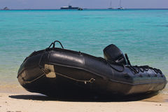 Inflatable Boat of Thai Navy Royalty Free Stock Photography
