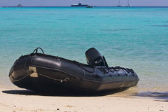 Inflatable Boat of Thai Navy Royalty Free Stock Photo