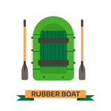 Inflatable Boat Vector Icon. Inflatable boat vector illustration. Rafting boat icon isolated on white background. Rafting vessel boat pictogram in flat design Stock Image