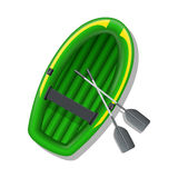 Inflatable boat. Vector illustration Stock Images