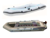 Inflatable boats Stock Photography