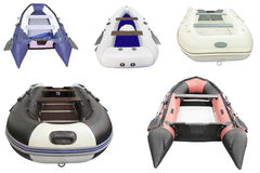 Inflatable boats Stock Photo