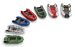 Inflatable boats Royalty Free Stock Photos