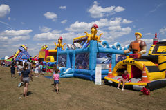 Inflatable bounce houses Stock Photography