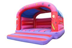 Inflatable Bouncy Castle. A Large Inflatable Bouncy Castle Childrens Play Area royalty free stock images