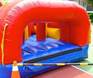 Inflatable bouncy castle Stock Image