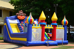 Inflatable Castle. Children's Inflatable Castle Playground Royalty Free Stock Photography