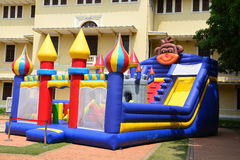 Inflatable Castle. Children's Inflatable Castle Playground Stock Image