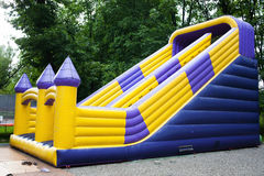 Inflatable castle playground Royalty Free Stock Photography