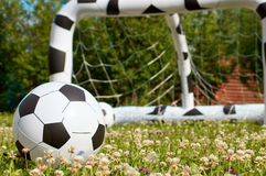 Inflatable child ball and goal Stock Photo