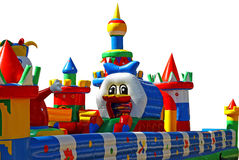 Inflatable child playground Stock Photo