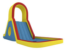 Inflatable children`s slide Royalty Free Stock Photo