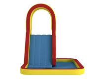 Inflatable children`s slide Royalty Free Stock Photos