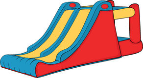 Inflatable Children swing hill Royalty Free Stock Images