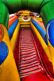 Inflatable clown at the fun-fair Royalty Free Stock Photos