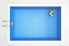 Inflatable colorful ball in a pool Royalty Free Stock Image