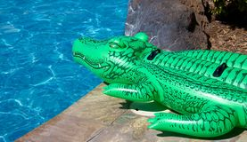 Inflatable crocodile Royalty Free Stock Photography
