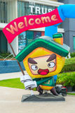 Inflatable figure with the inscription welcome Royalty Free Stock Photos