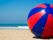 Inflatable giant beach ball. A huge toy beach ball with a dia of 10 feet/3 meters Stock Images