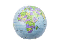 Inflatable globe isolated Royalty Free Stock Photo