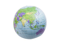 Inflatable globe isolated Stock Photography