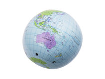 Inflatable globe isolated Royalty Free Stock Image