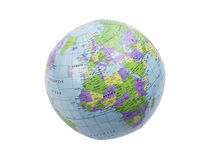 Inflatable globe isolated Royalty Free Stock Photos