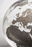 Inflatable Globe showing Europe Royalty Free Stock Image