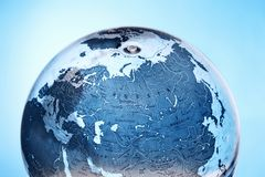 Inflatable Globe showing Russia Stock Photography