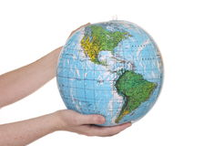 Inflatable Globe of the World Royalty Free Stock Images