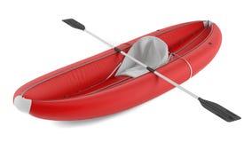 Inflatable kayak canoe isolated Stock Photos