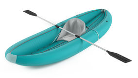 Inflatable kayak canoe isolated Royalty Free Stock Photography